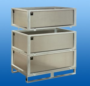 Stainless Steel pallet with setted boxes-3-times